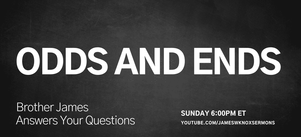 Sunday 6 pm ET on YouTube - Odds and Ends