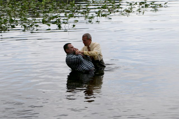 Baptism in Lake Diaz