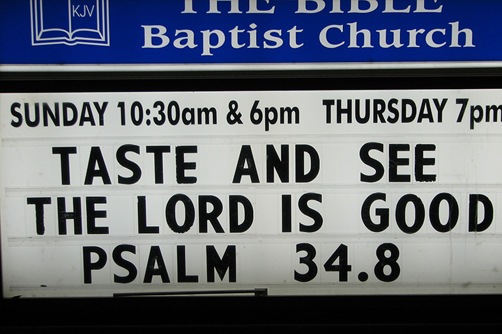 THE BIBLE Baptist Church front sign