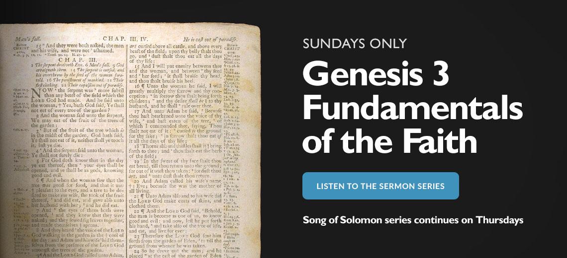 Sunday sermon series on Genesis 3