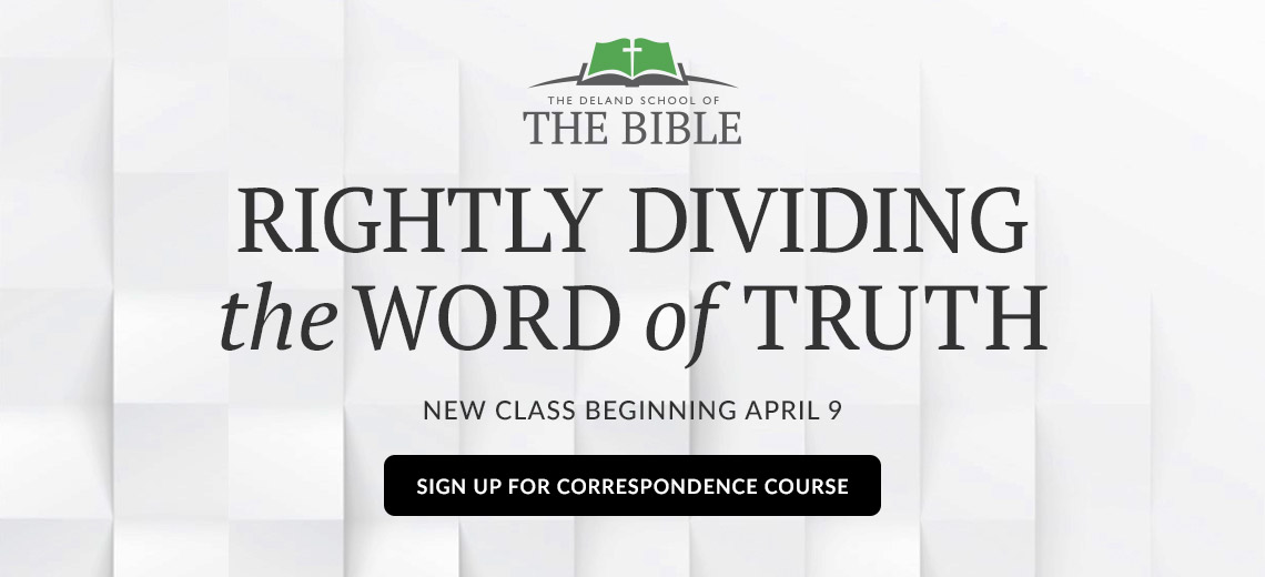 Sign up for Righty Dividing the Word of Truth Correspondence Course