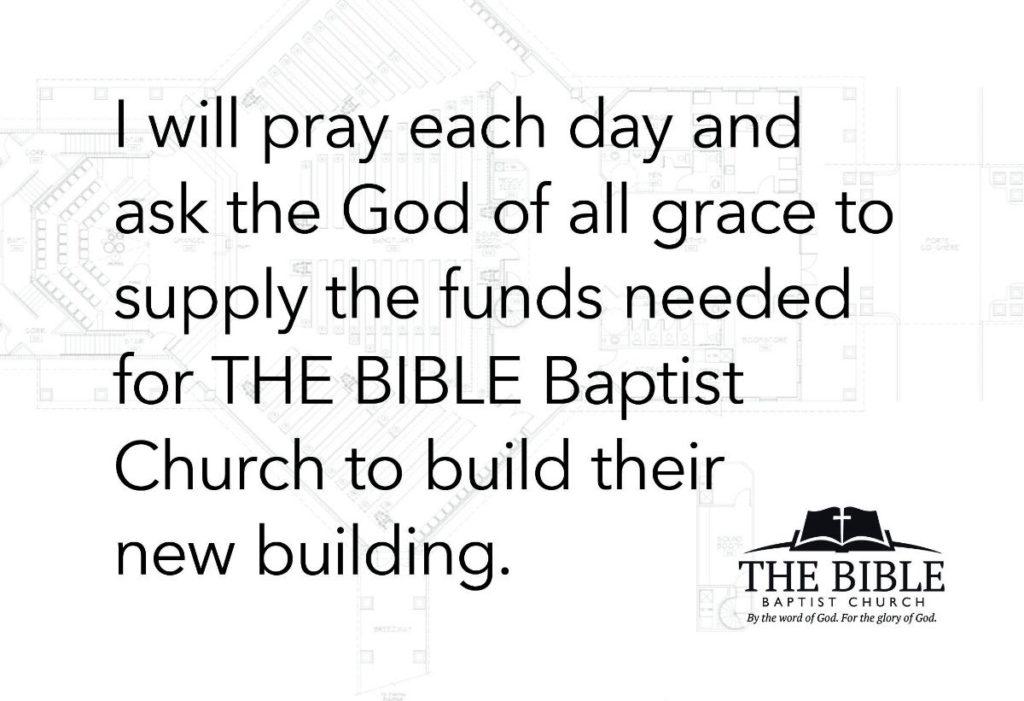 Building Fund Prayer Card Back